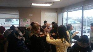 Groupe d'étudiants du programme LINC