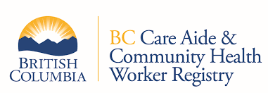 BC care aide and community health worker registry - Logo