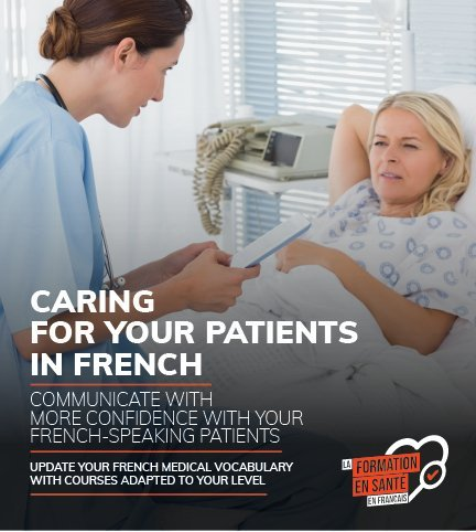 caring for your patients in French