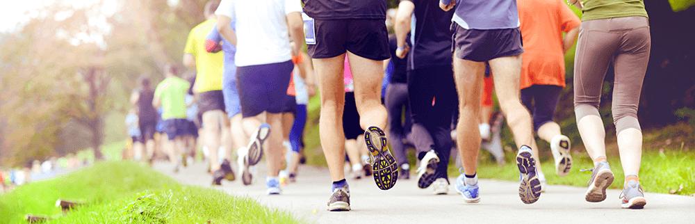 Groupe de marathoniens