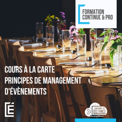 Principes de management d'évènements